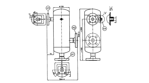 Dimensions of the separator